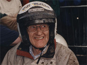 Bill Milliken, age 87, at the wheel of FWD Miller; 1997, Goodwood Hillclimb, England