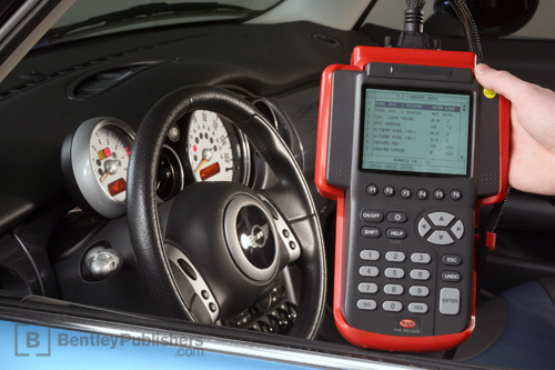 An OBD-II scan tool is invaluable for on-board diagnostics, such as clearing fault codes, and resetting the Check Engine light.