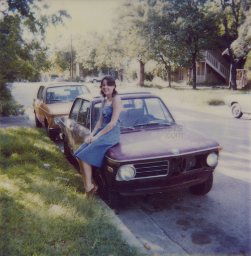 Rob's first two BMW 2002s (a '71 and a '73) and Maire Anne-the real love of his life.