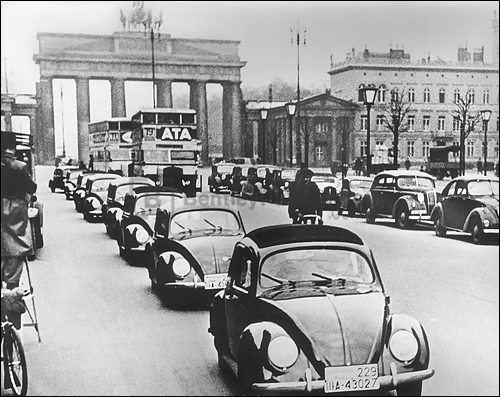 Prototype VWs at the time of the Berlin Auto Show in February 1939.