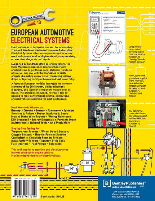 The Hack Mechanic Guide to European Automotive Electrical Systems - Rob Siegel back cover