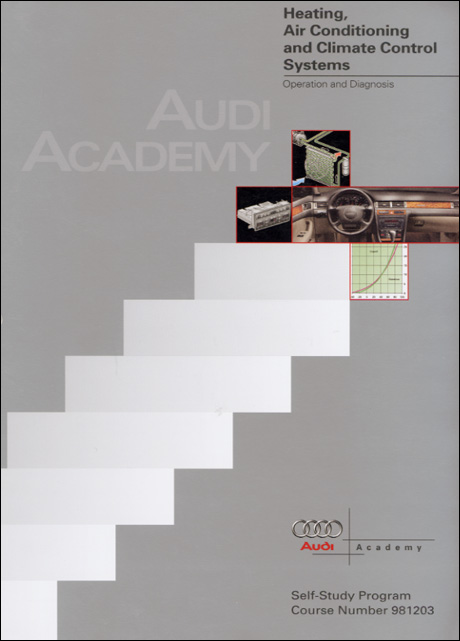 Audi Heating, Air Conditioning and Climate Control Systems Operation and Diagnosis Technical Service Training Self-Study Program Front Cover
