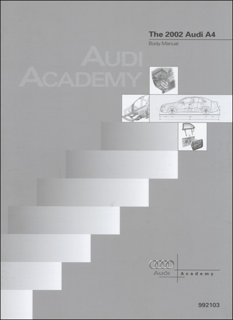 Audi A4 2002 Body Manual Technical Service Training Self-Study Program Front Cover