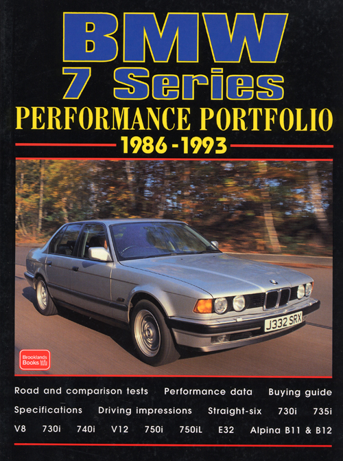 BMW 7 Series Performance Portfolio: 1977-1986  front cover