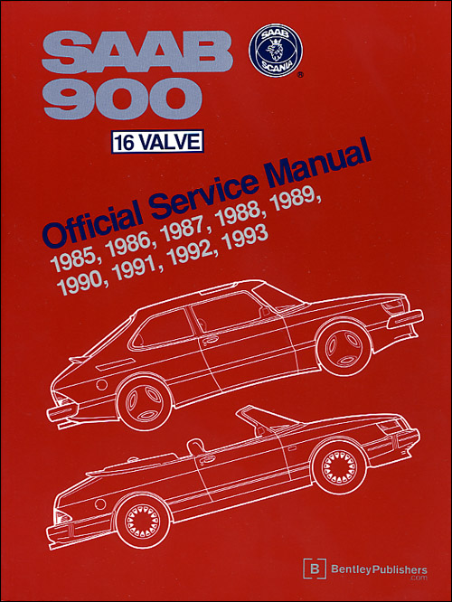 Saab 900 16 Valve Official Service Manual: 1985-1993 front cover